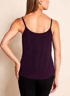 Double Layer Crepe Tank Top, Purple, hi-res