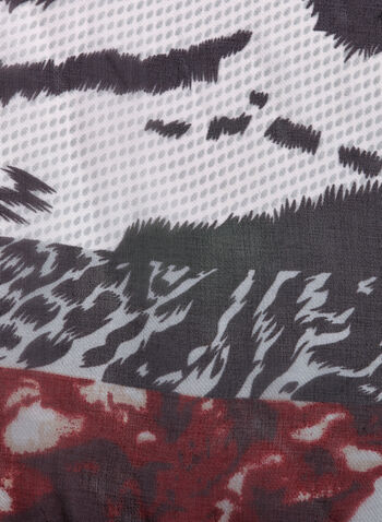 Mixed Animal Print Scarf, , hi-res