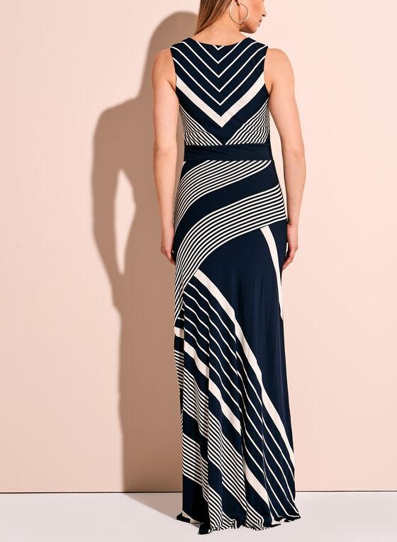 Linea Domani Graphic Stripe Maxi Dress, Blue, hi-res