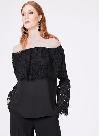 Frank Lyman - Off the Shoulder Bell Sleeve Blouse , , hi-res