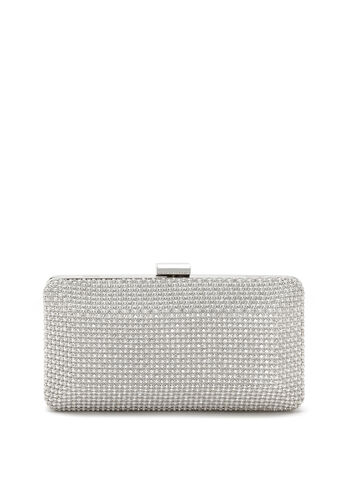 Crystal Mesh Box Clutch, , hi-res