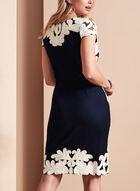 Frank Lyman Embroidered Soutache Dress, Blue, hi-res
