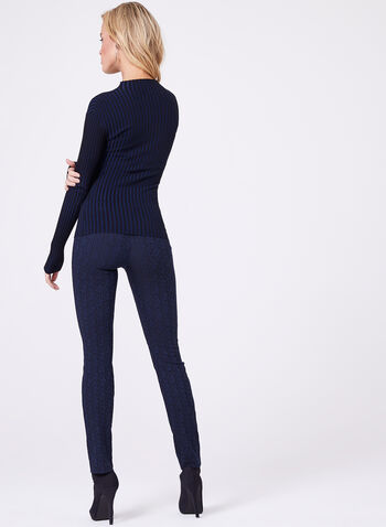 Double Keyhole Neck Knit Sweater, , hi-res