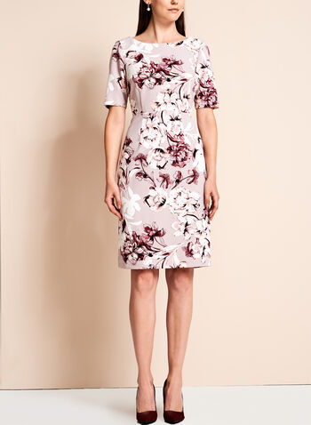 Short Sleeve Floral Print Dress, , hi-res