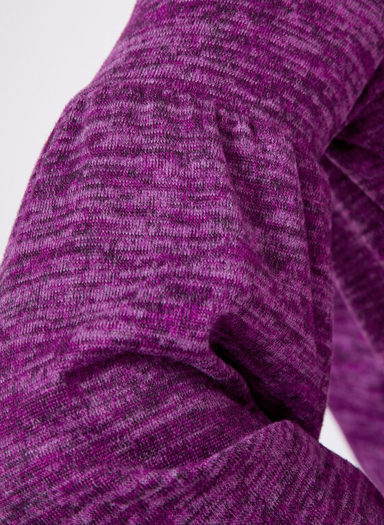 Bell Sleeve Knit Sweater, Purple, hi-res