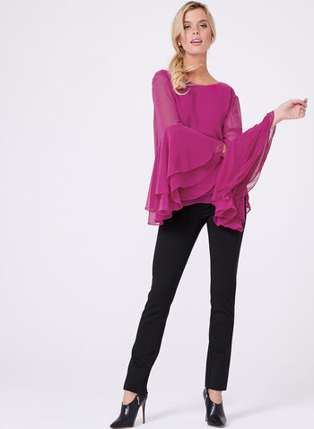 Double Layer Chiffon Blouse , , hi-res