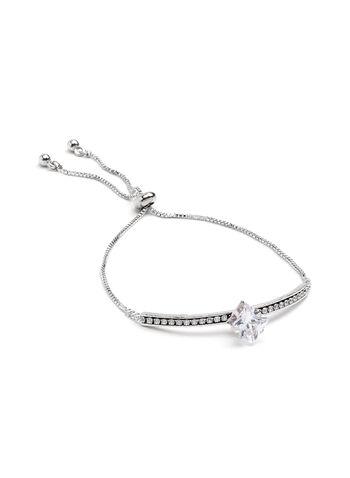 Bracelet argenté avec brillants et grosse pierre, , hi-res