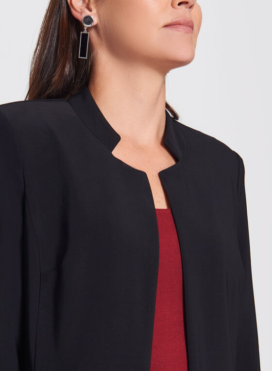 Frank Lyman - Inverted Notch Collar Jacket, Black, hi-res