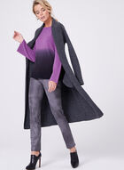 Flared Sleeve Ombré Knit Sweater , Purple, hi-res
