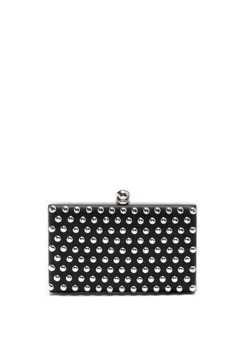 Stone Embellished Box Clutch, , hi-res