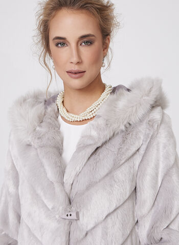 Nuage- Faux Fur Hooded Coat, , hi-res