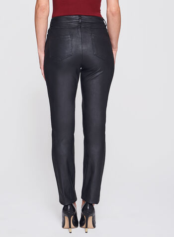 Straight Leg Faux Leather Pants , , hi-res