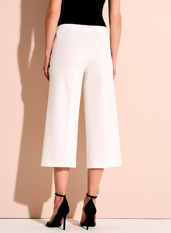Ponte Wide Leg Pants , Off White, hi-res