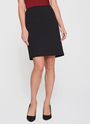 Pull-On Ponte Pencil Skirt, , hi-res