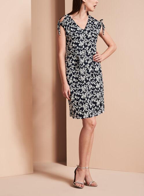 Ivanka Trump Floral Print Jersey Dress, Blue, hi-res