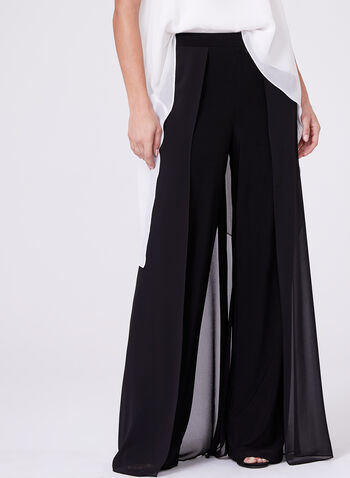 Frank Lyman - Chiffon Panel Wide Leg Pants, , hi-res