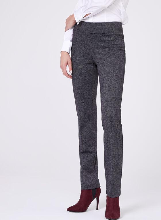 Pull On Straight Leg Pants , Grey, hi-res