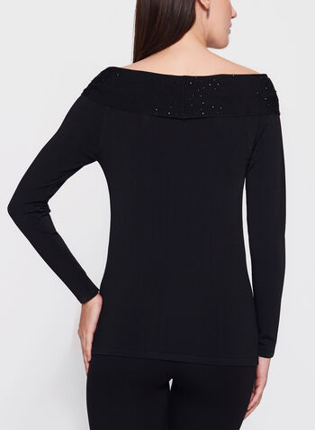 Embellished Marilyn Neck Sweater, , hi-res