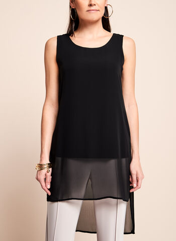 Sleeveless Double Layer Tunic Top , , hi-res