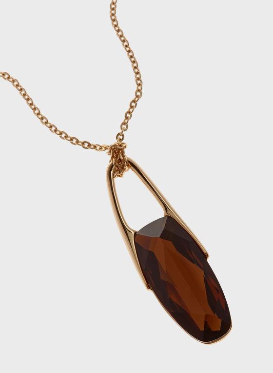 Robert Lee Morris - Geometric Stone Pendant Necklace , Brown, hi-res
