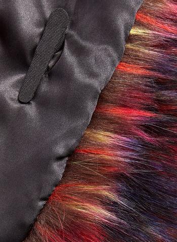 Multi Colour Faux Fur Wrap , , hi-res