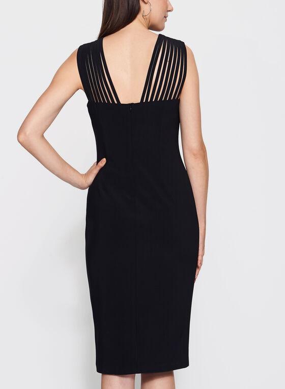 Frank Lyman - Lace Effect Yoke Jersey Dress, Black, hi-res