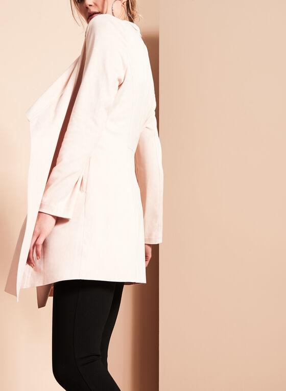 Faux Suede Cascade Jacket, Off White, hi-res