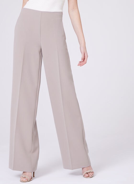 Soho Slimming Fit Wide Leg Pants, Off White, hi-res