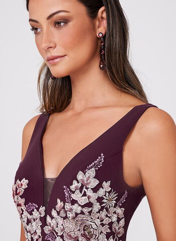 BA Nites - Crystal Embellished Lace Embroidered Dress, , hi-res