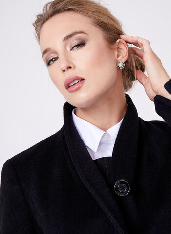 Ellen Tracy - Belted Wool Blend Wrap Coat, , hi-res
