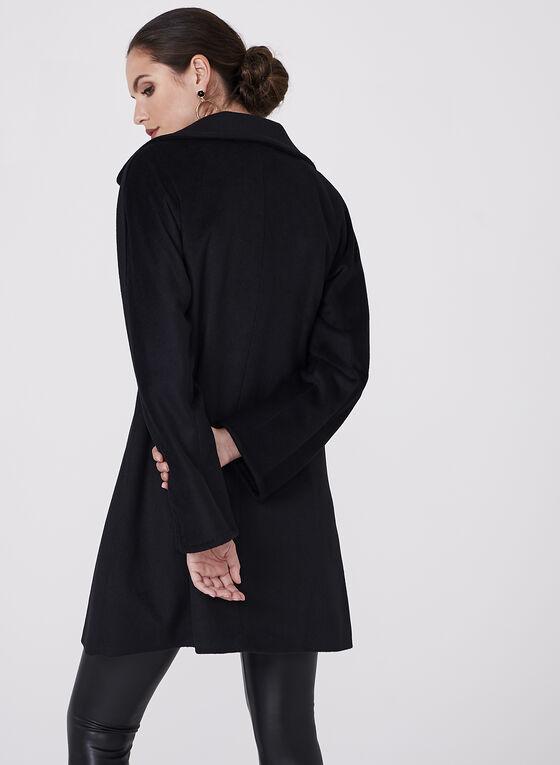 Ellen Tracy - Wool & Angora Blend Coat, Black, hi-res