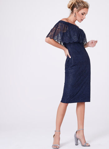 Cachet - Off-The-Shoulder Lace Dress, , hi-res