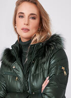 Nuage - Diamond Quilted Down Coat, Green, hi-res