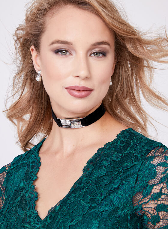 Ellen Tracy - Empire Waist Lace Gown, Green, hi-res