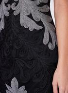 Frank Lyman - Embroidered Mesh Dress, Black, hi-res