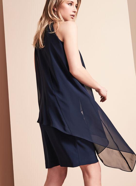 Vince Camuto Beaded Chiffon Dress, Blue, hi-res