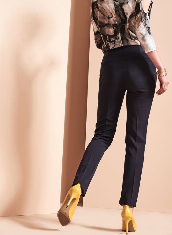 Bi-Stretch Slim Leg Pants , Blue, hi-res