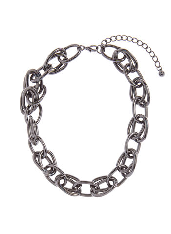 Double Chain Link Necklace, , hi-res
