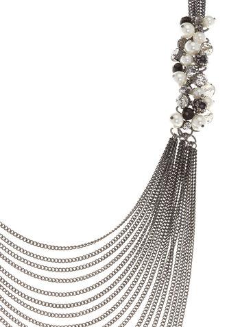 Collier à plusieurs chaînes et grappes de perles, , hi-res