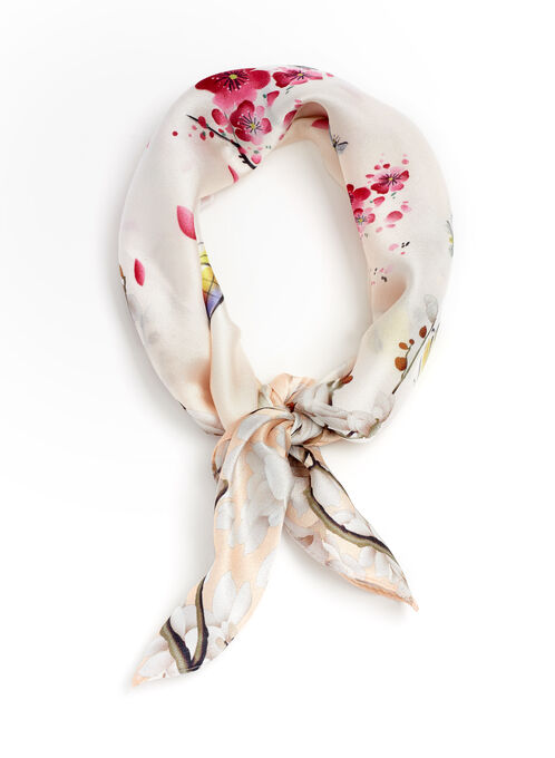 Blossoms & Birds Neckerchief, Pink, hi-res