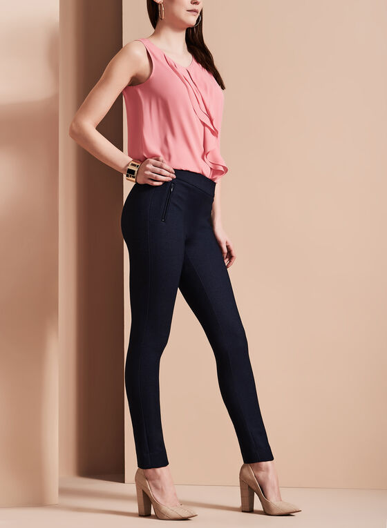 Indigo Slim Leg Pants, Blue, hi-res