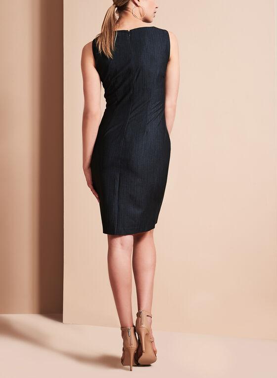 Ivanka Trump Sunburst Pleated Dress, Blue, hi-res
