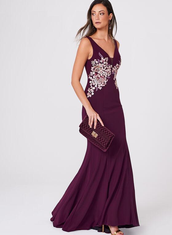 BA Nites - Crystal Embellished Lace Embroidered Dress, Multi, hi-res