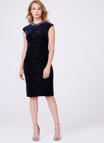 Vince Camuto - Extended Sleeve Velvet Dress, , hi-res