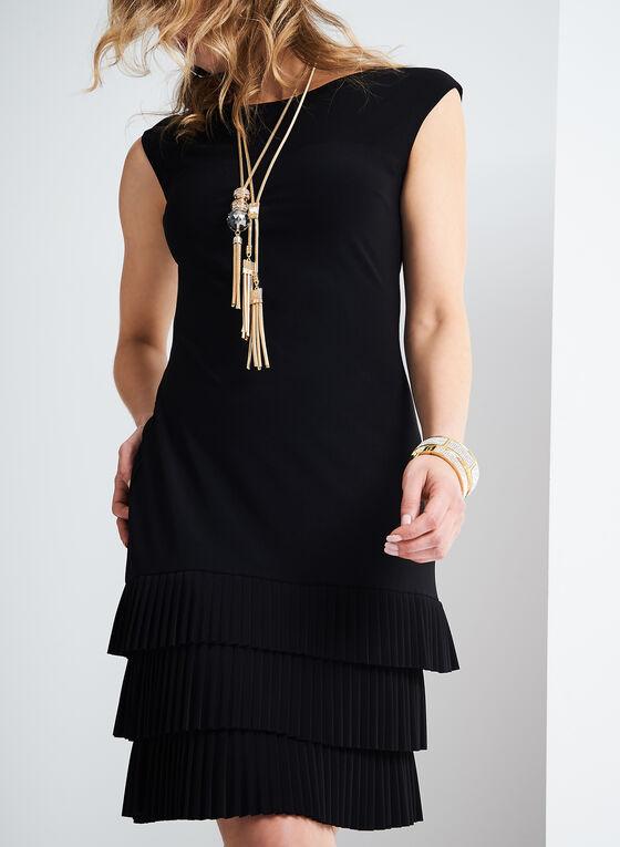 Frank Lyman Jersey Fringe Dress, Black, hi-res