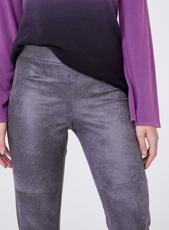 Faux Leather Leggings , Silver, hi-res