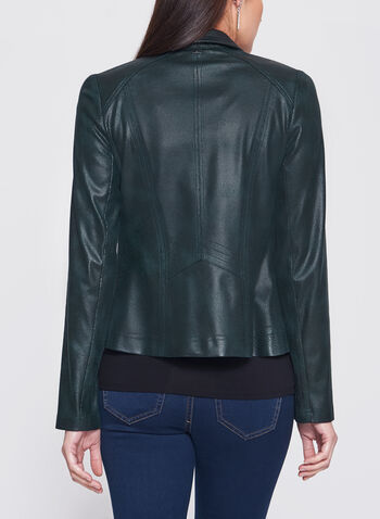 Vex - Zipper Trim Faux Leather Jacket, , hi-res
