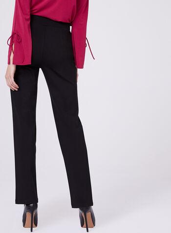 Pantalon 7/8 avec détails zips et aspect cuir, , hi-res