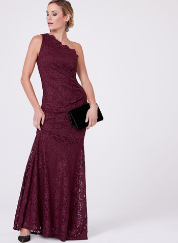 Decode 1.8 - One Shoulder Glitter Lace Dress, , hi-res