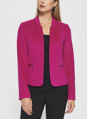 Inverted Notch Collar Blazer, , hi-res